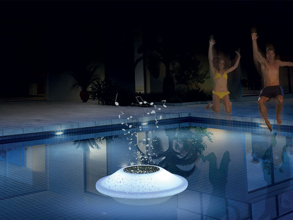 Disque flottant bluetooth à LEDs avec haut-parleur 5W intégré