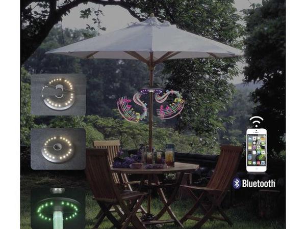 Disque pour parasol avec LEDs et 2 haut-parleurs intégrés bluetooth