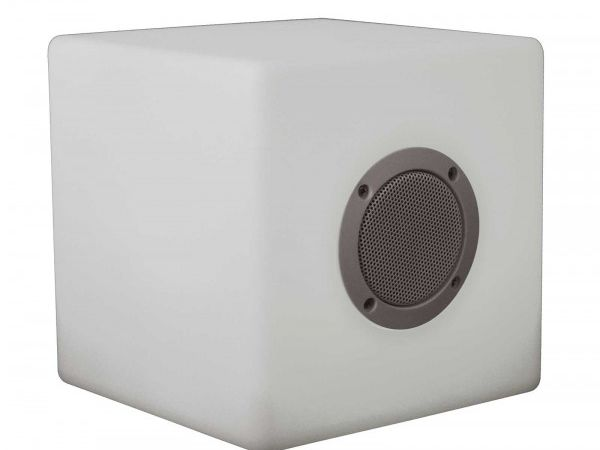 Enceinte lumineuse autonome bluetooth, Cube de 40 cm