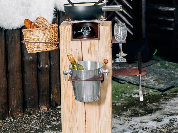 """Bar à fondue mange-debout """"Festi-Fondue"""" Set de 35 pièces"""