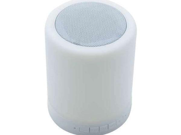 Lampe à LEDs à variation de couleur et enceinte intégrée Bluetooth