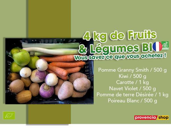 Panier BIO de fruits et légumes disponible en retrait dans votre magasin du mercredi 02 au dimanche 07 janvier