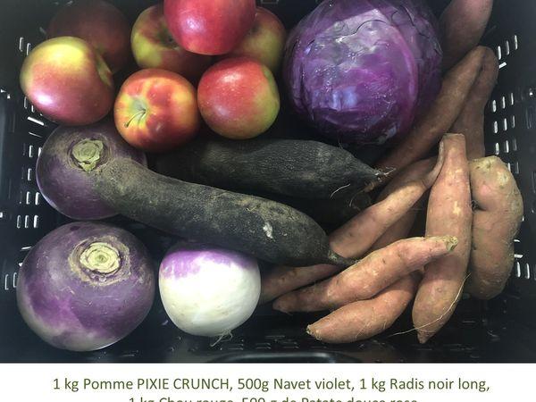 Panier BIO de fruits et légumes disponible en retrait dans votre magasin du mercredi 28 au dimanche 01 novembre