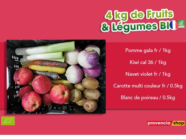 Panier BIO de fruits et légumes disponible en retrait dans votre magasin du mardi 2 au dimanche 7 mars 2021