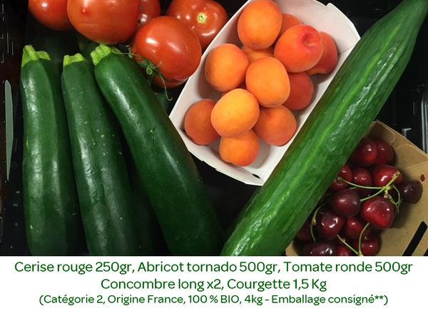 Panier BIO de fruits et légumes disponible en retrait dans votre magasin du mercredi 10 au dimanche 14 juin