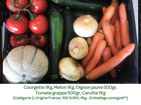 Panier BIO de fruits et légumes disponible en retrait dans votre magasin du mercredi 12 au dimanche 16 Août