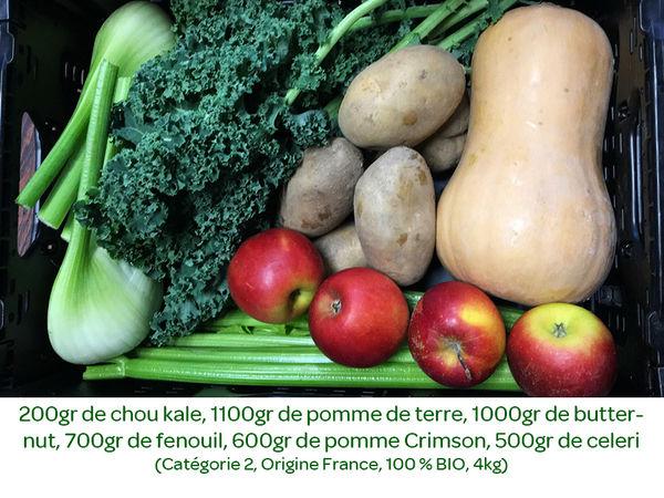 Panier BIO de fruits et légumes disponible en retrait dans votre magasin du mercredi 22 au dimanche 26 janvier