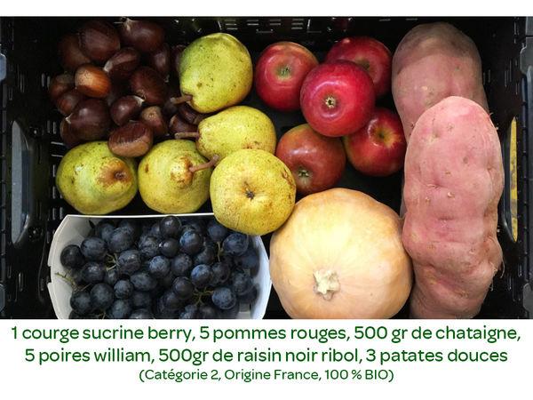 Panier BIO de fruits et légumes disponible en retrait dans votre magasin du Mercredi 23 au Dimanche 27 octobre