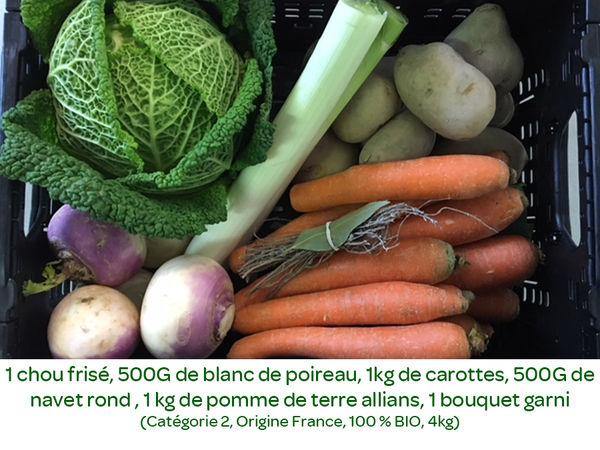 Panier BIO de fruits et légumes disponible en retrait dans votre magasin du Mercredi 20 au Dimanche 24 novembre