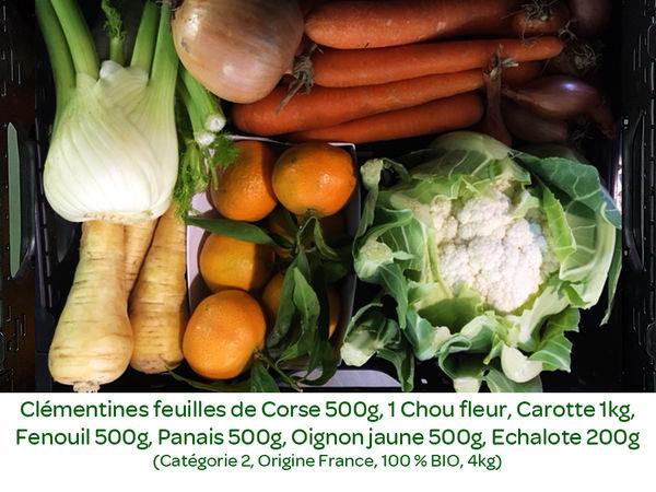 Panier BIO de fruits et légumes disponible en retrait dans votre magasin du mercredi 27 novembre au dimanche 1er décembre