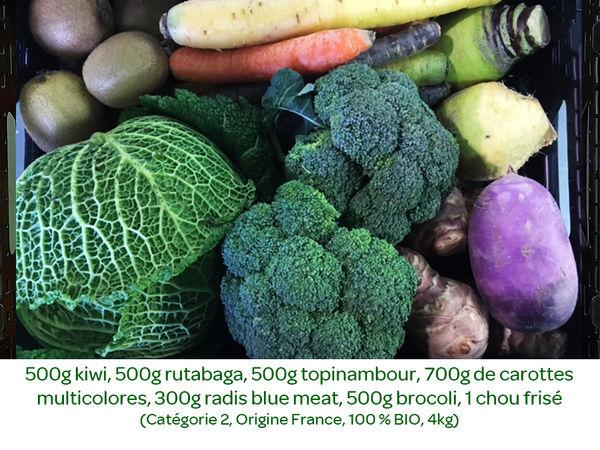 Panier BIO de fruits et légumes disponible en retrait dans votre magasin du mercredi 29 janvier au dimanche 02 février