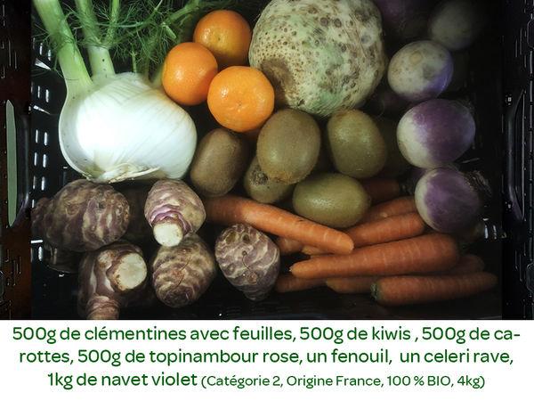 Panier BIO de fruits et légumes disponible en retrait dans votre magasin du mercredi 11 au dimanche 15 décembre