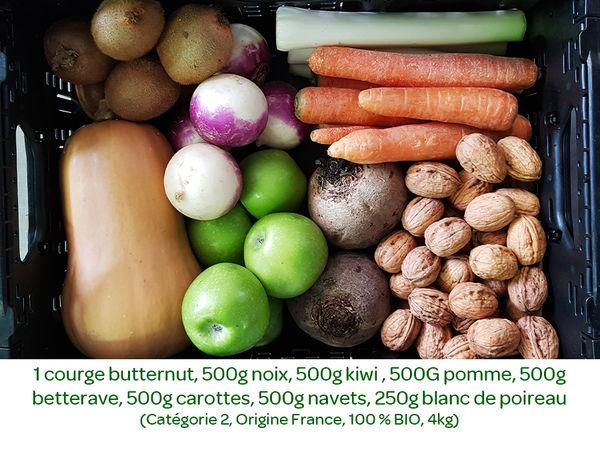 Panier BIO de fruits et légumes disponible en retrait dans votre magasin du mercredi 12 au dimanche 16 février