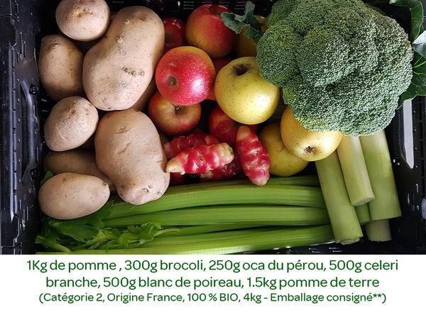 Panier BIO de fruits et légumes disponible en retrait dans votre magasin du mercredi 19 au dimanche 23 février