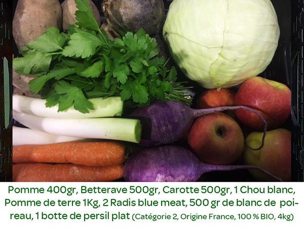 Panier BIO de fruits et légumes disponible en retrait dans votre magasin du Mercredi 04 au Dimanche 08 Décembre