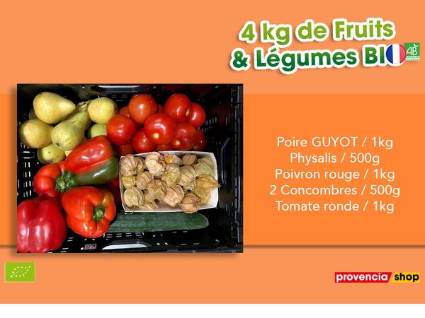 Panier BIO de fruits et légumes disponible en retrait dans votre magasin du mercredi 29 Septembre au dimanche 03 Octobre 2021