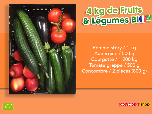 Panier BIO de fruits et légumes disponible en retrait dans votre magasin du mercredi 2 juin au dimanche 6 juin 2021