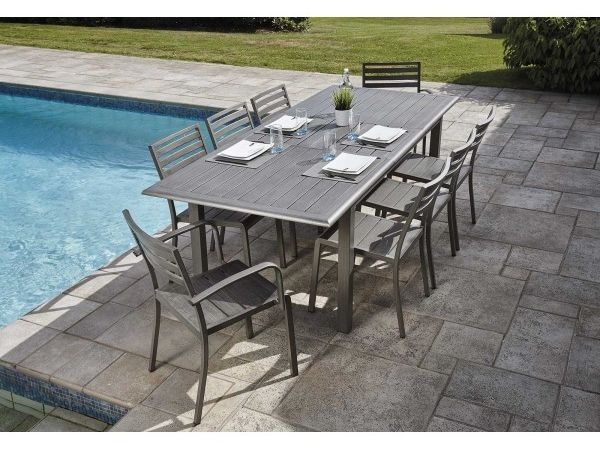 Ensemble Orlando (1 table + 6 chaises + 2 fauteuils)