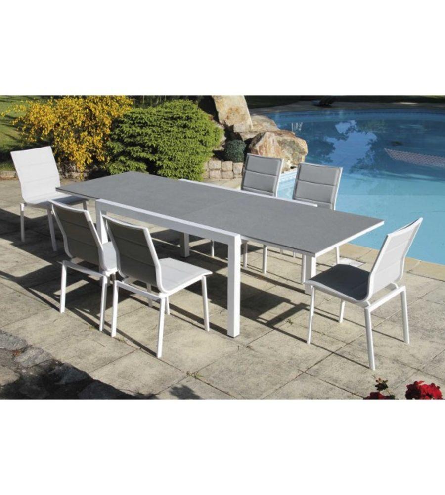 Ensemble Evian (1 table + 6 chaises)