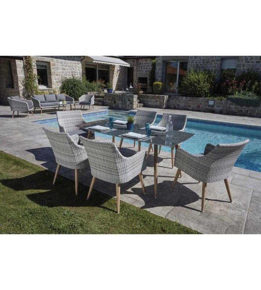 Ensemble Jersey (1 table + 6 fauteuils)